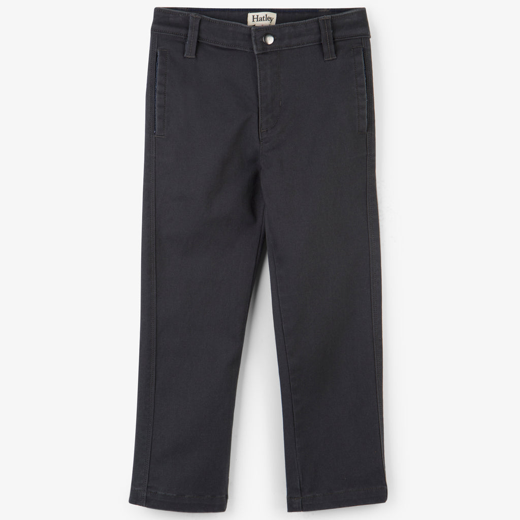 Hatley - Dark Grey Chino Trousers, 5 & 8y