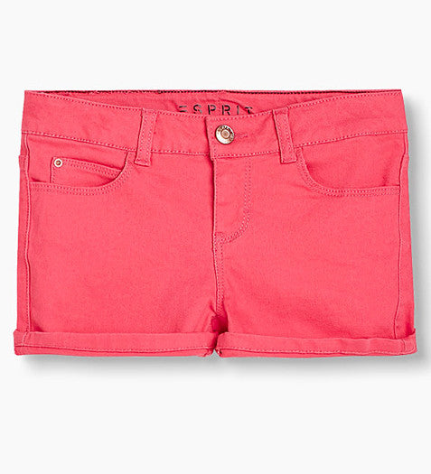 Dark Pink Denim Shorts