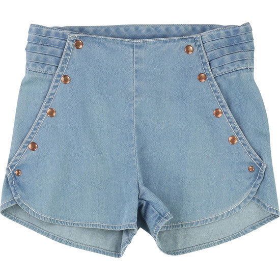 Carrement Beau - Girls Lightweight Denim Shorts, 4y