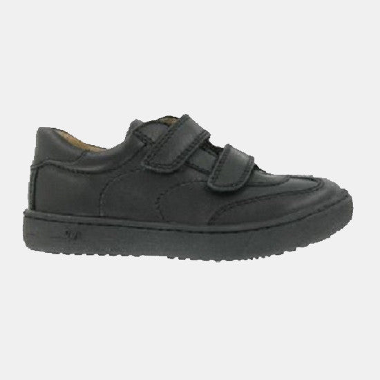 Boys 'Diamond' Leather School Shoe