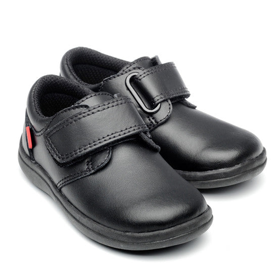Dixon Black Leather Boys School Shoe