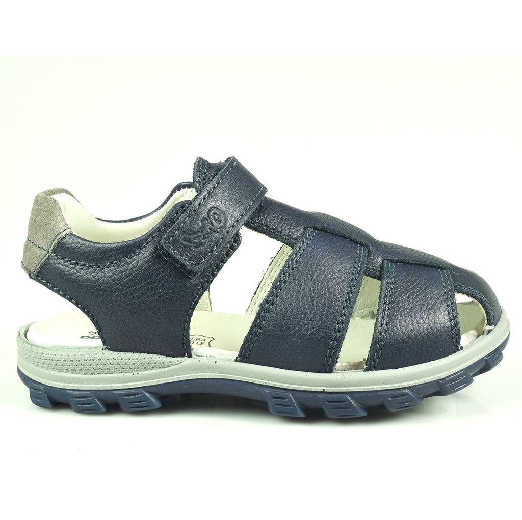 Boys Navy Blue Fisherman Sandals