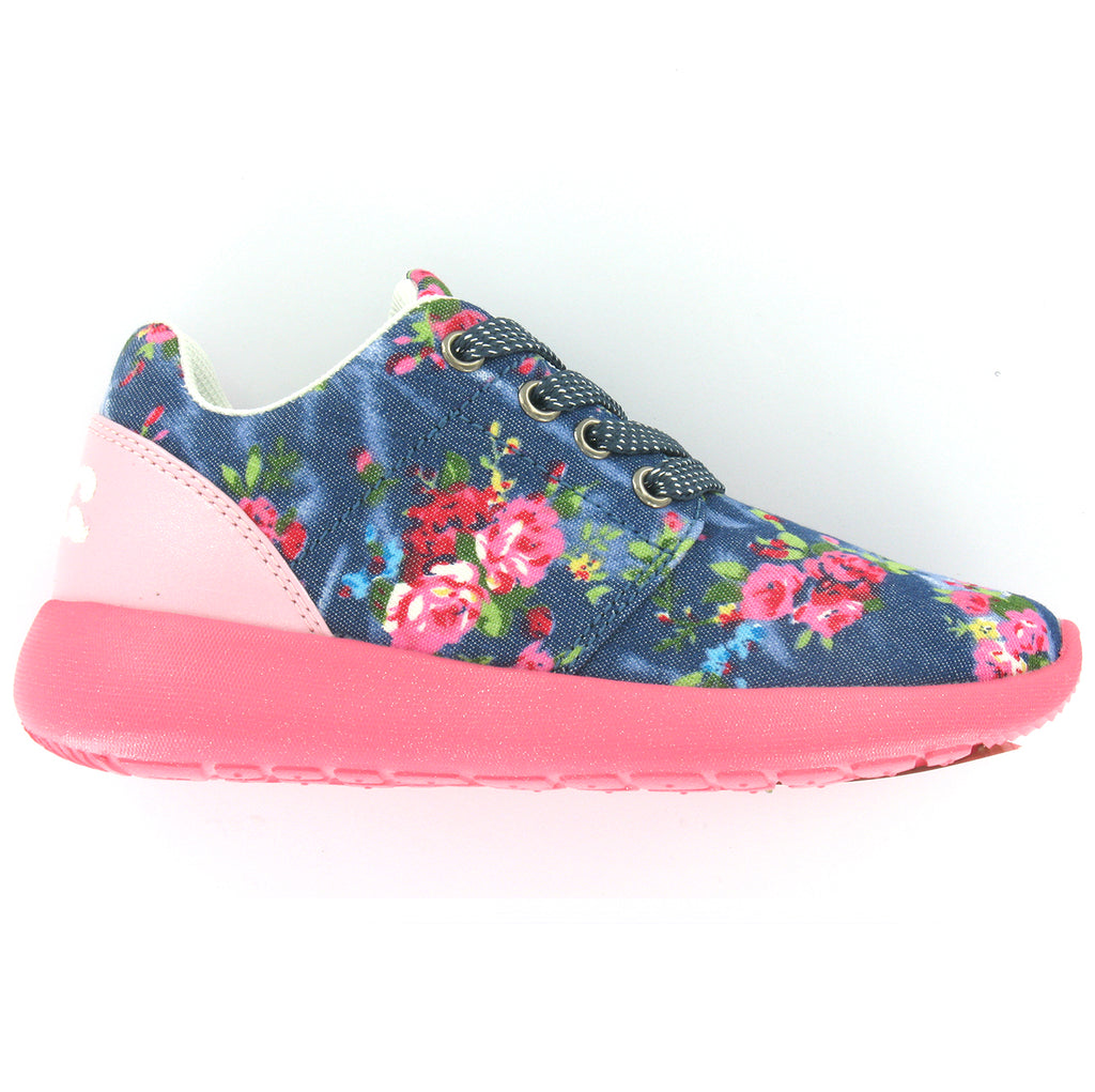 Girls Floral Trainer