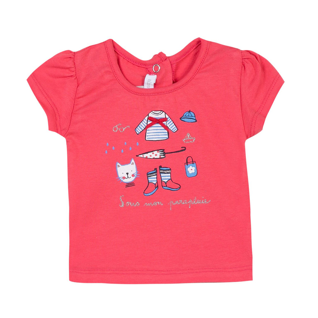 Absorba - Baby's Brick Red T-Shirt With Print