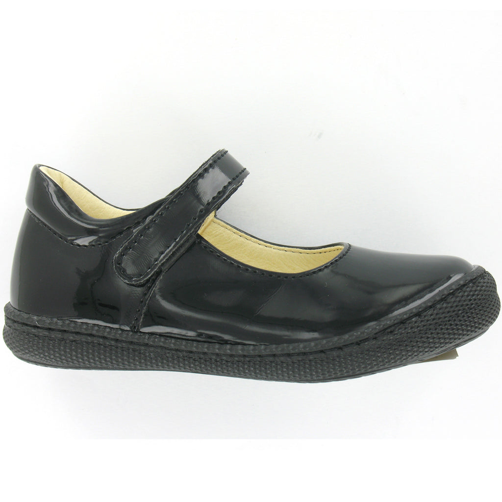 Morine Patent Black Girls School Shoe