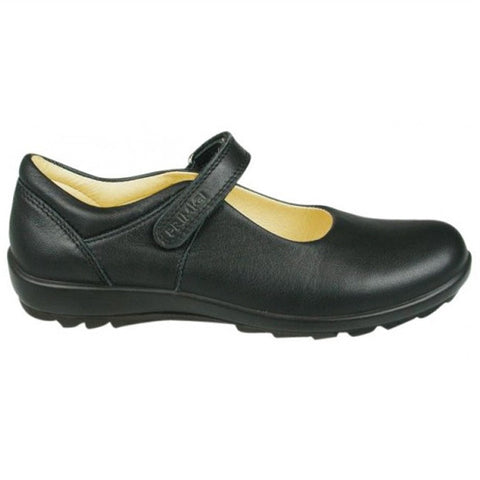 Girls Leather 'Olea' School Shoe