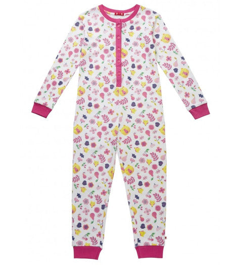 Piccalilly - Woodland Floral Onesie, 4-5 & 5-6y