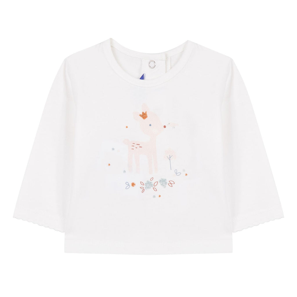 Absorba Toddler's Long Sleeved T-Shirt With Deer Print