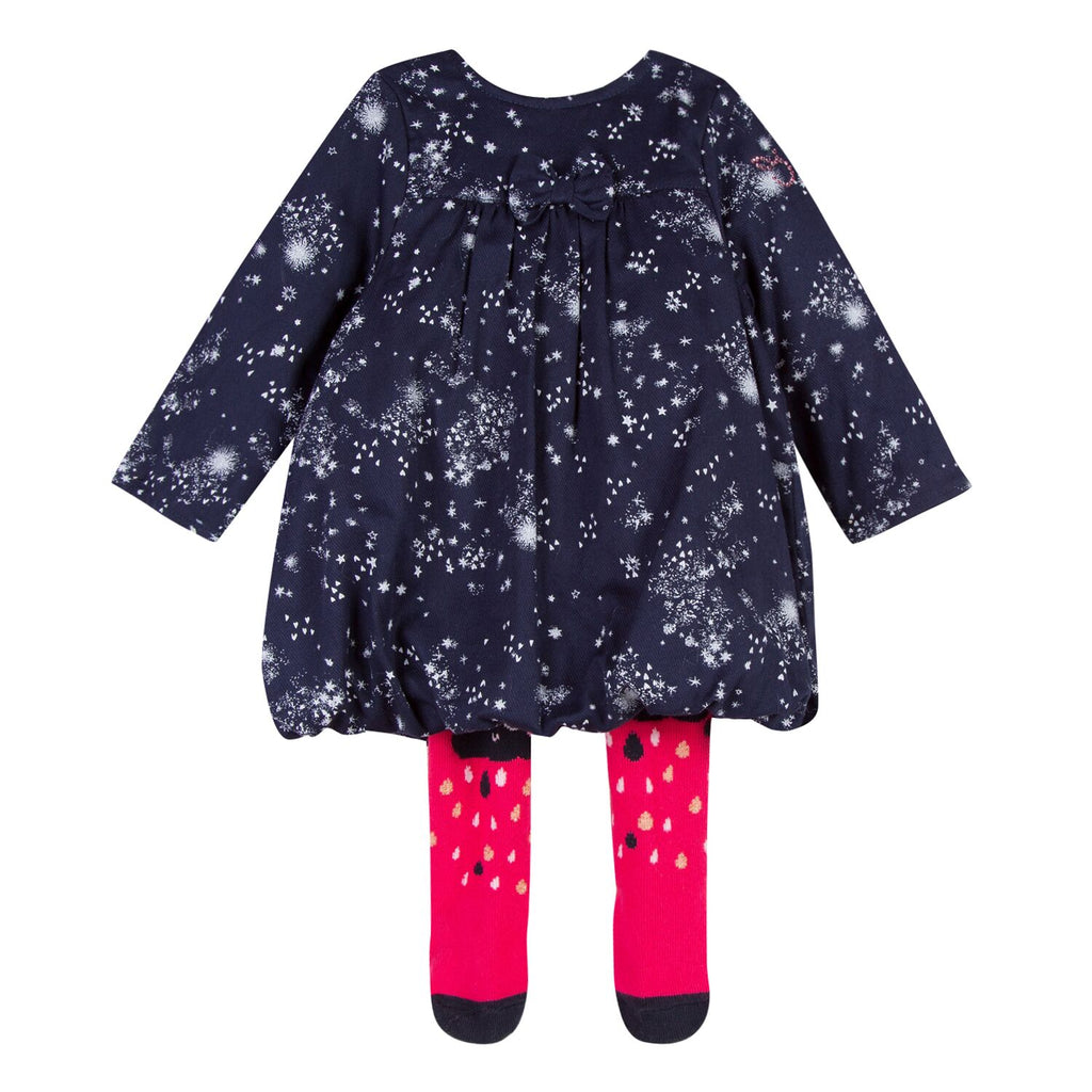 3 Pommes - Baby Girls Dress and Tights Set
