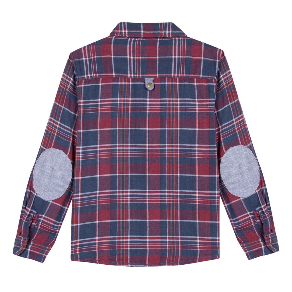 Red Check Shirt With Elbow Patches