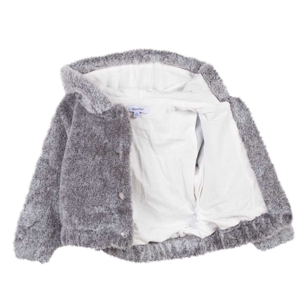 Absorba - Faux Fur Hooded Jacket 4y