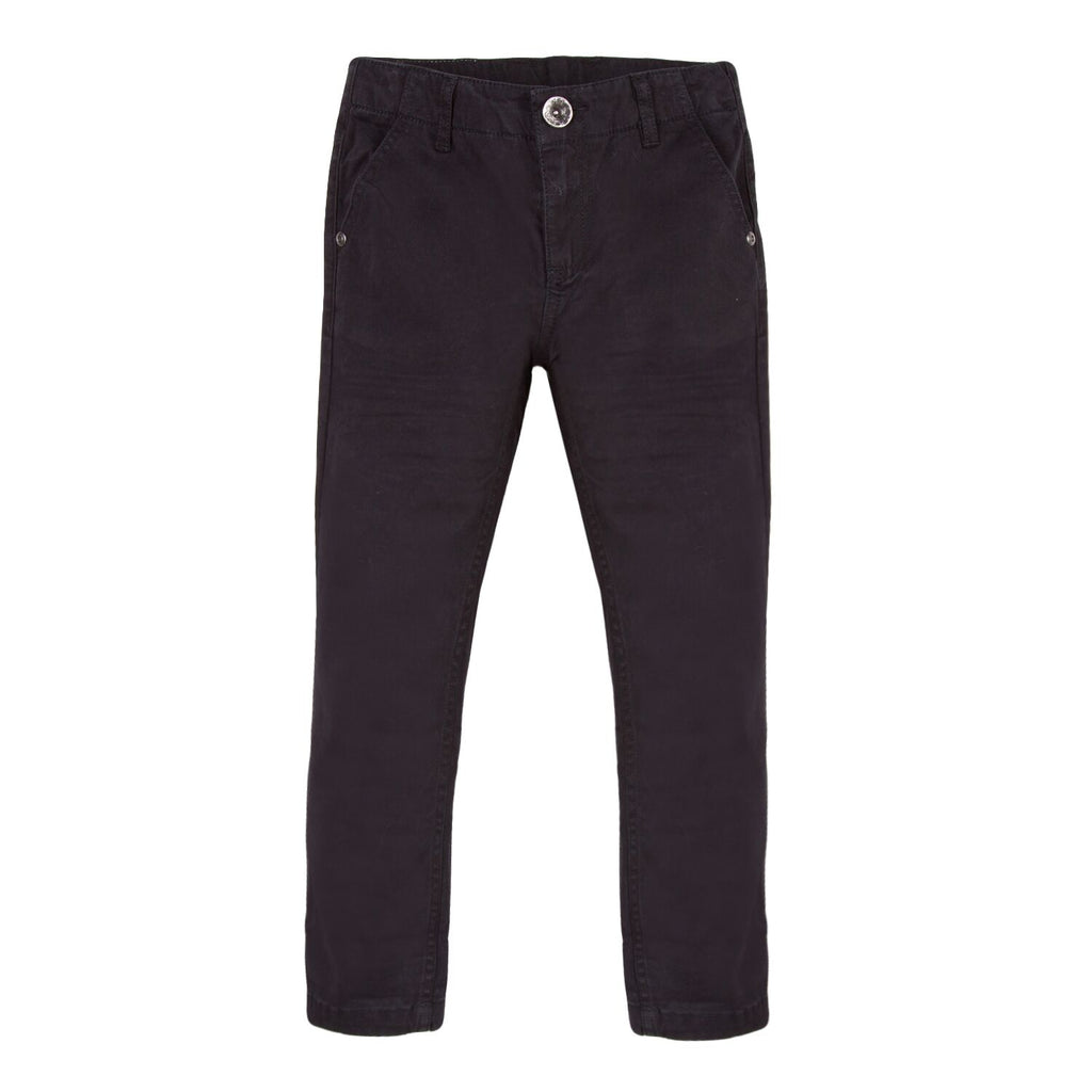 Slim Fit Black Chinos