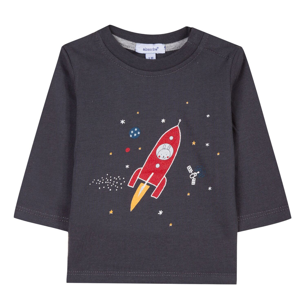 Baby & Toddler Long Sleeved T-Shirt With Rocket Print