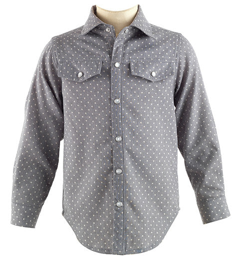 Grey Polka Dot Shirt
