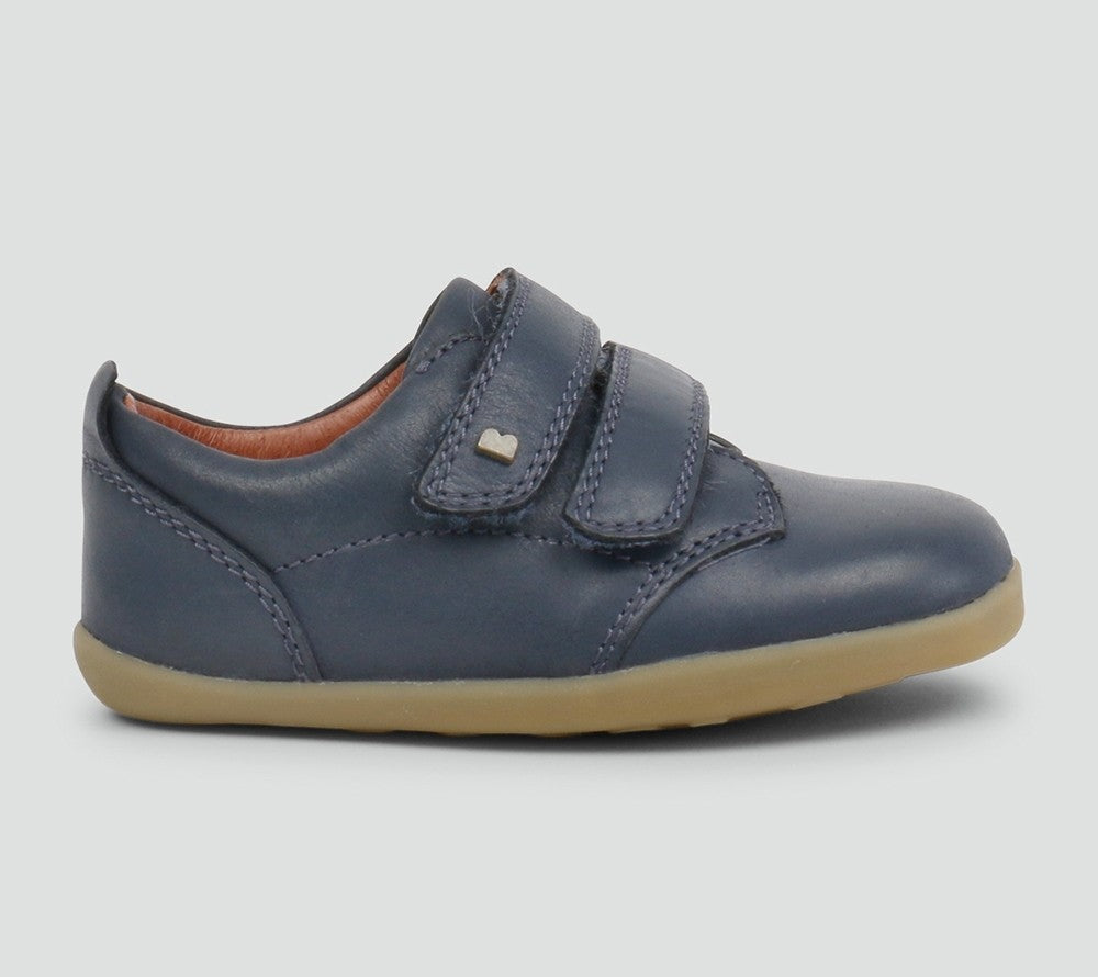 'Port' Navy Boys Smart Shoe