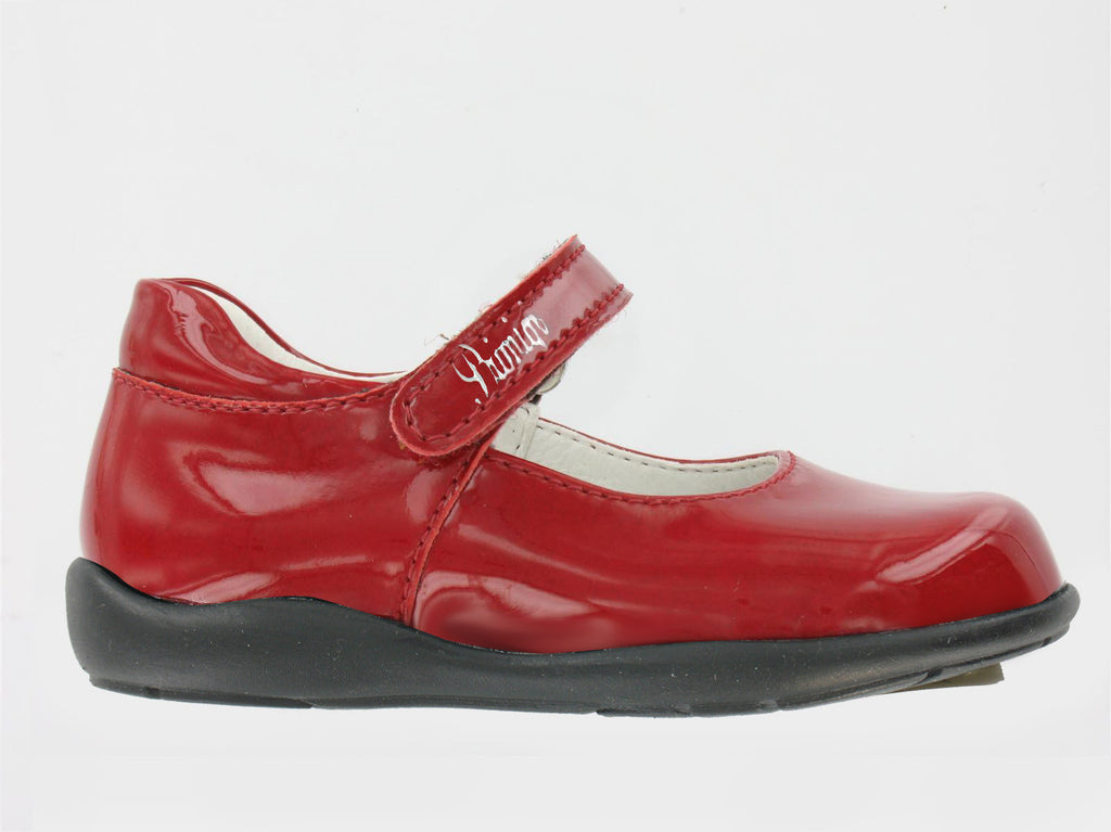 Girls Patent Red 'Sandes' Shoe by Primigi