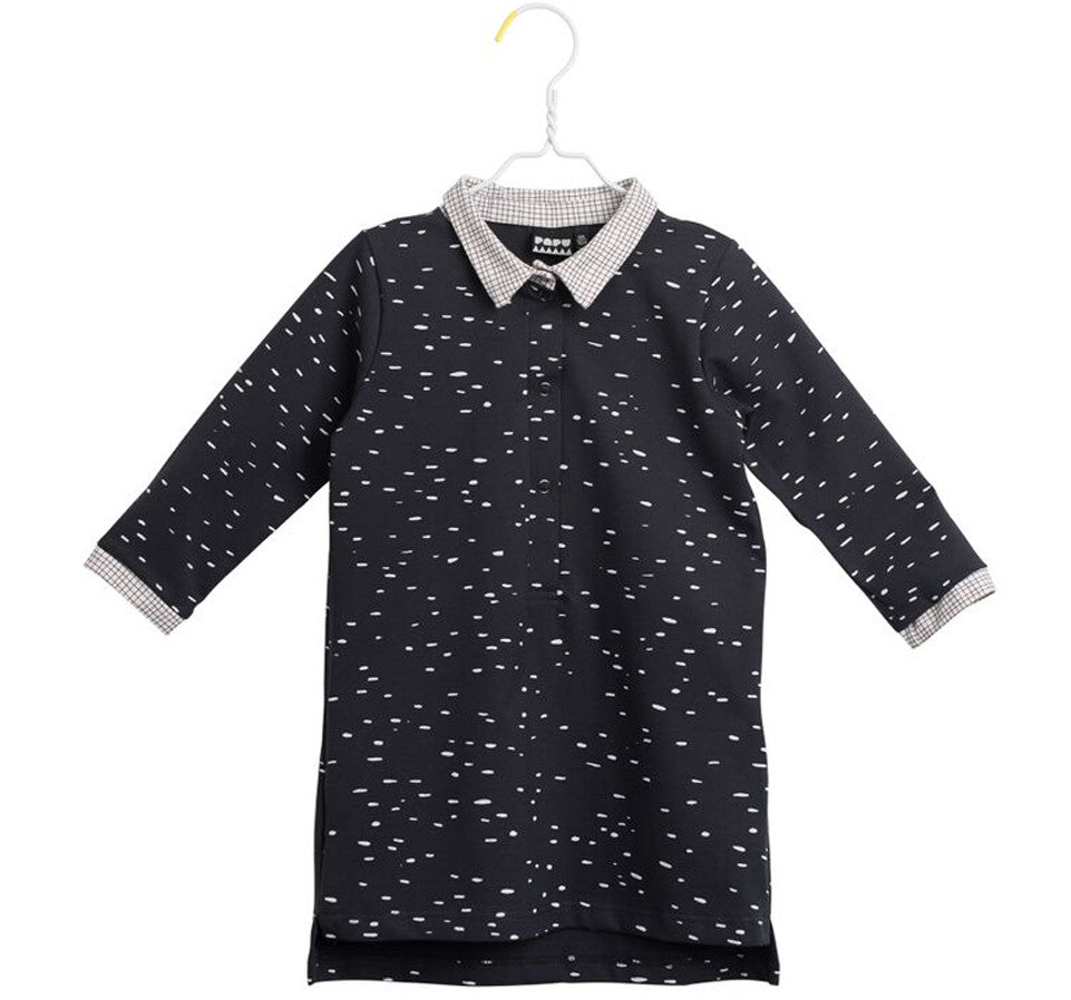 Papu - Dot Print Shirt Dress, 3-4y