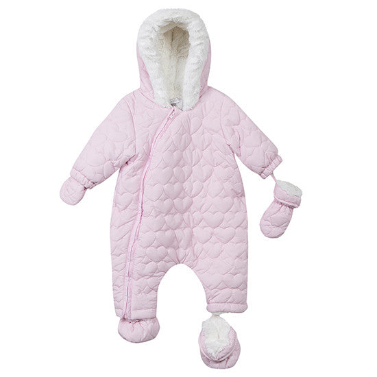 Absorba - Snowsuit With Heart Quilting 1m