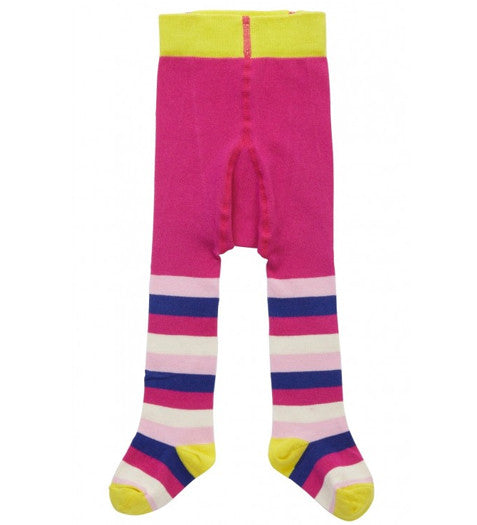 Piccalilly -Multicoloured Stripe Tights, 18-24m