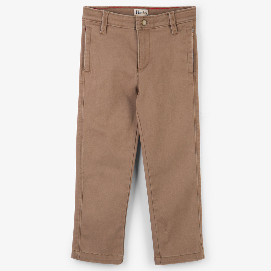 Straight Cut Tan Chinos