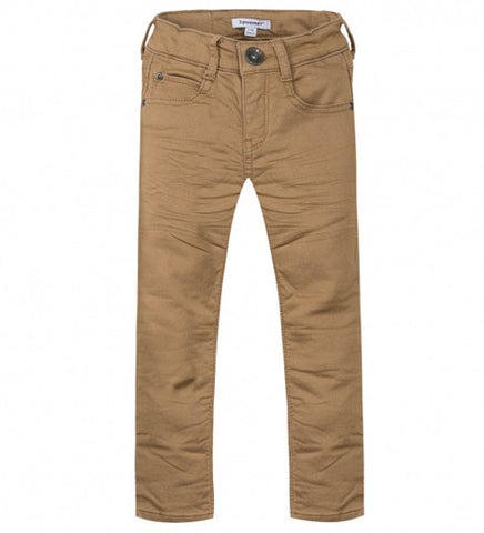 Boys Slim Fit Cotton Tan Jean