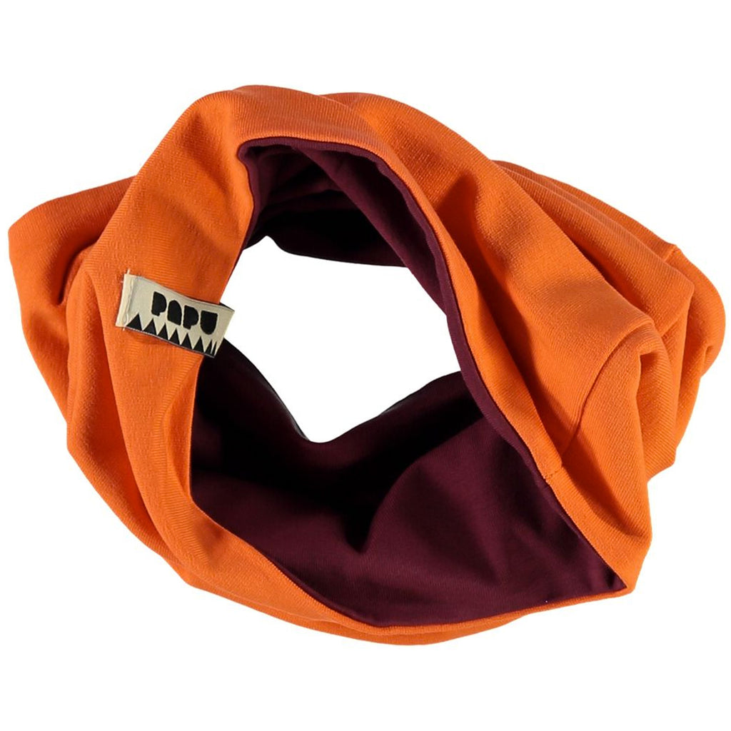 Unisex Tube Scarf - Orange and Burgundy
