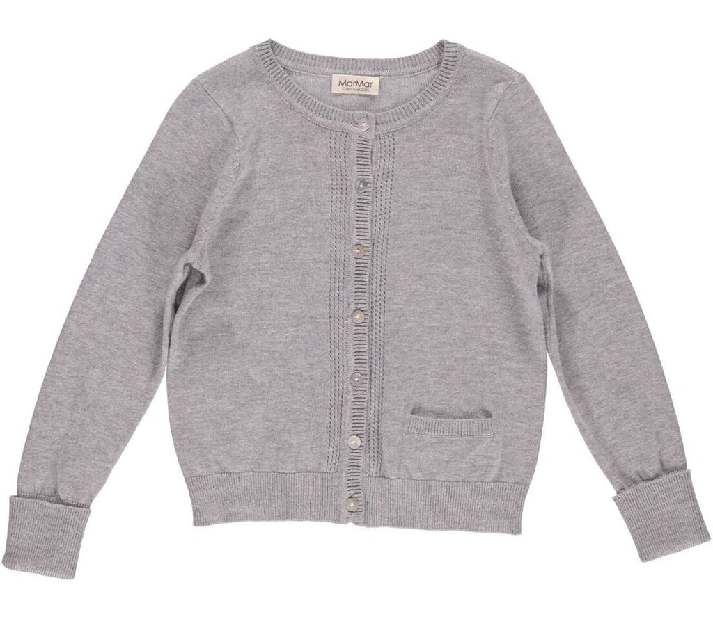 Dove Grey 'Tilia' Fine Knit Cardigan, 12y
