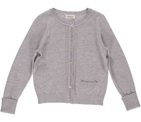 Dove Grey 'Tilia' Fine Knit Cardigan