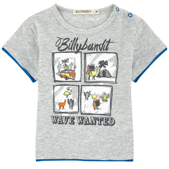Billybandit - Waves Wanted Grey Toddler's T-Shirt, 2y