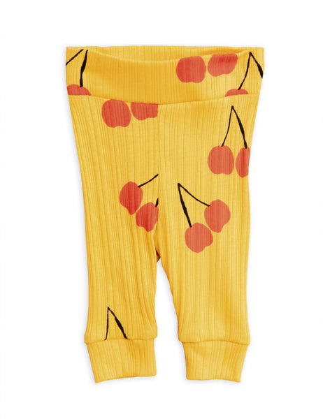 Cherry Leggings - Yellow - Newborn