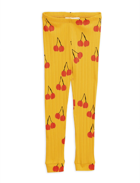 Cherry Leggings - Yellow