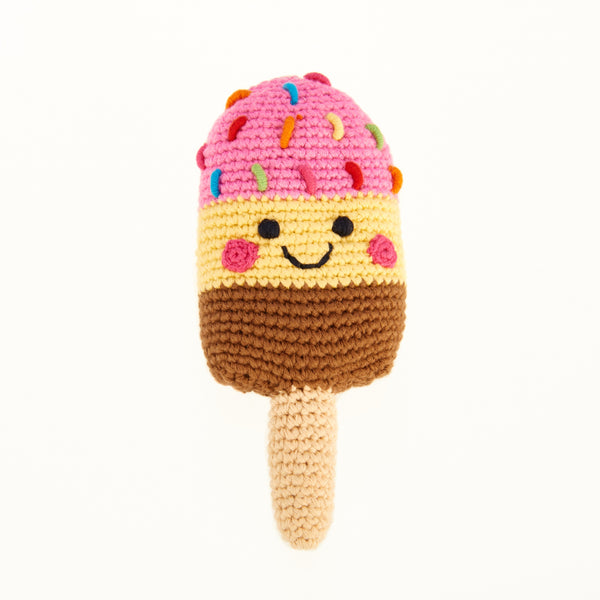 Happy Ice Lolly Rattle - Pink