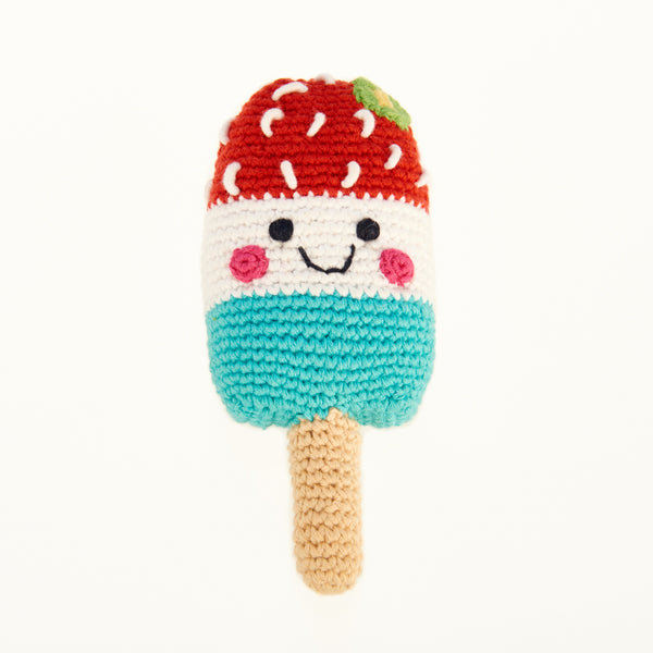 Happy Ice Lolly Rattle - Red
