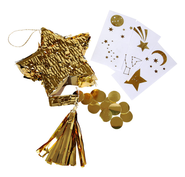 Gold Star Pinata Party Favours