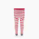 Striped Ribbed Tights - SPEAKER - Red