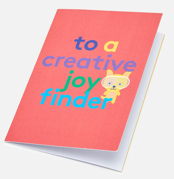 Joy Finder Colour-In Greeting Card