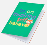 Self Believer Colour-In Greeting Card