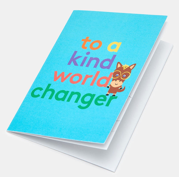 World Changer Colour-In Greeting Card