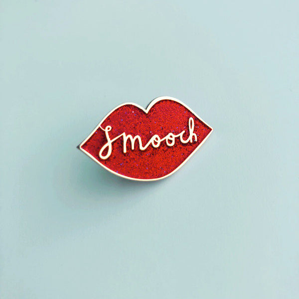 Smooch Pin by Sparklechild and Rachel Gale