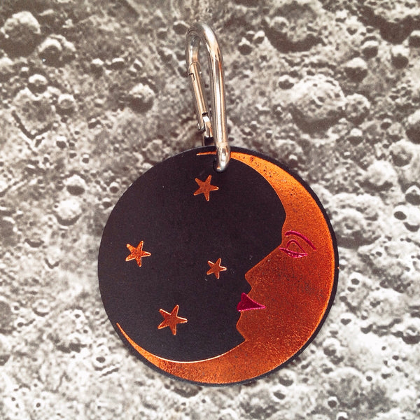 Moon Face Bag Tag