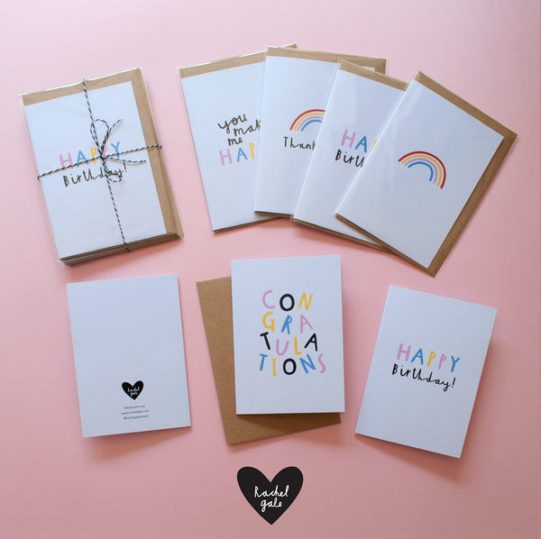 Rainbow Card by Rachel Gale