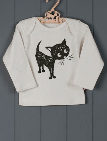 Cat T-shirt by Petra Boase