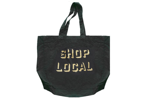 SHOP LOCAL Bag - Black/Gold