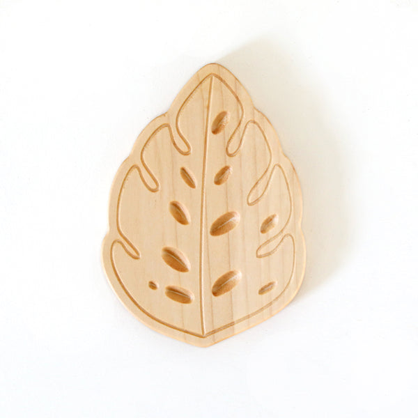 Wooden Teether - Monstera Leaf