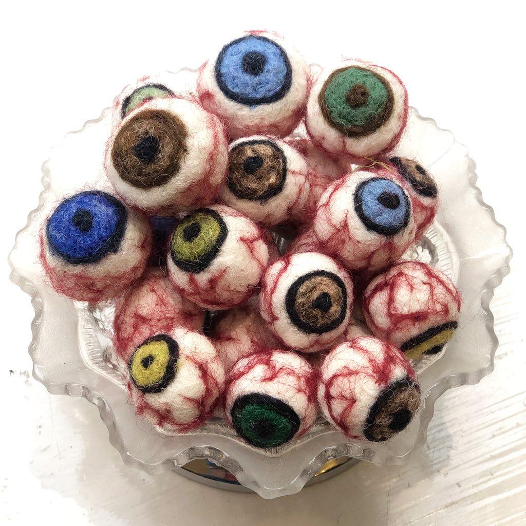 Hand Felted Eyeballs