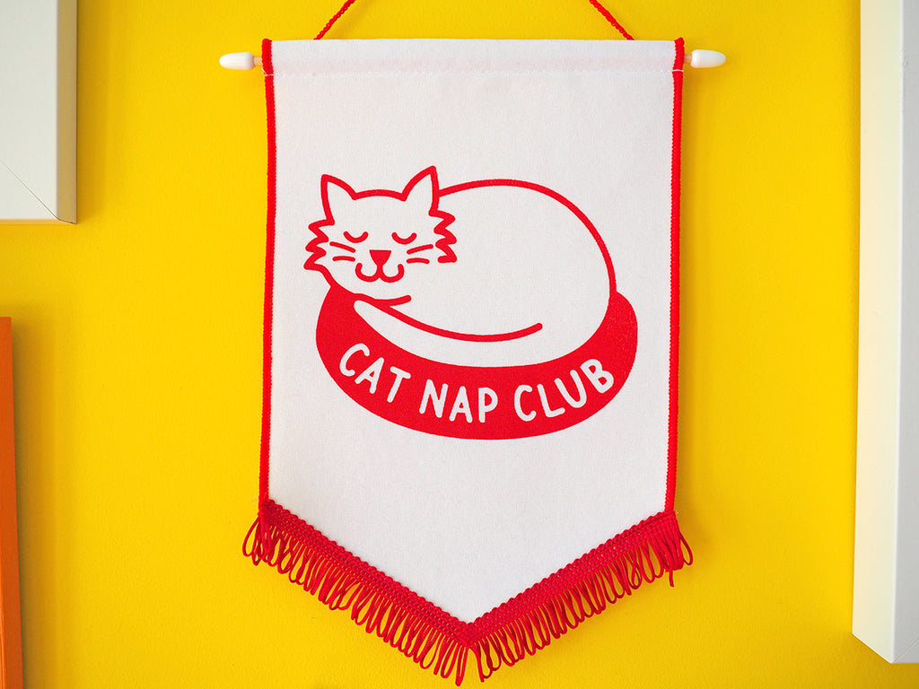 Cat Nap Club Pennant Flag