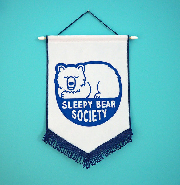 Sleepy Bear Society Pennant Flag