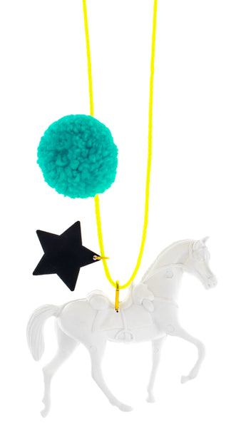 Wild and Free Pompom Necklace