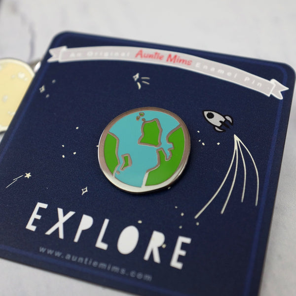 Planet Earth - Enamel Pin