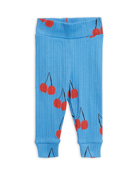 Cherry Leggings - Blue - Newborn